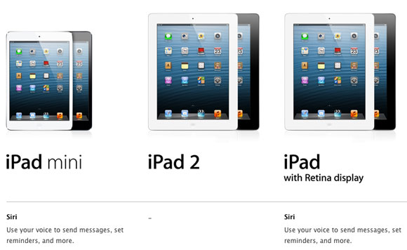 iPad Mini Supports Siri, iPad 2 Still Doesn&#8217;t