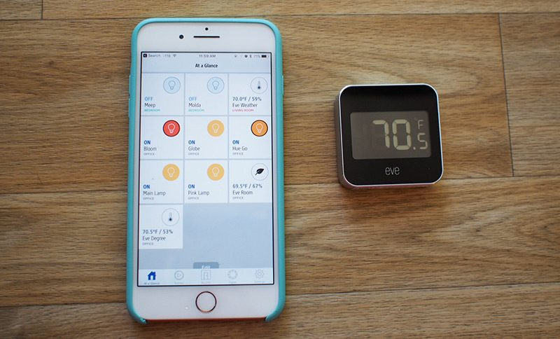 Elgato Eve Degree Weather Station Temperature Humidity Monitor for Apple HomeKit