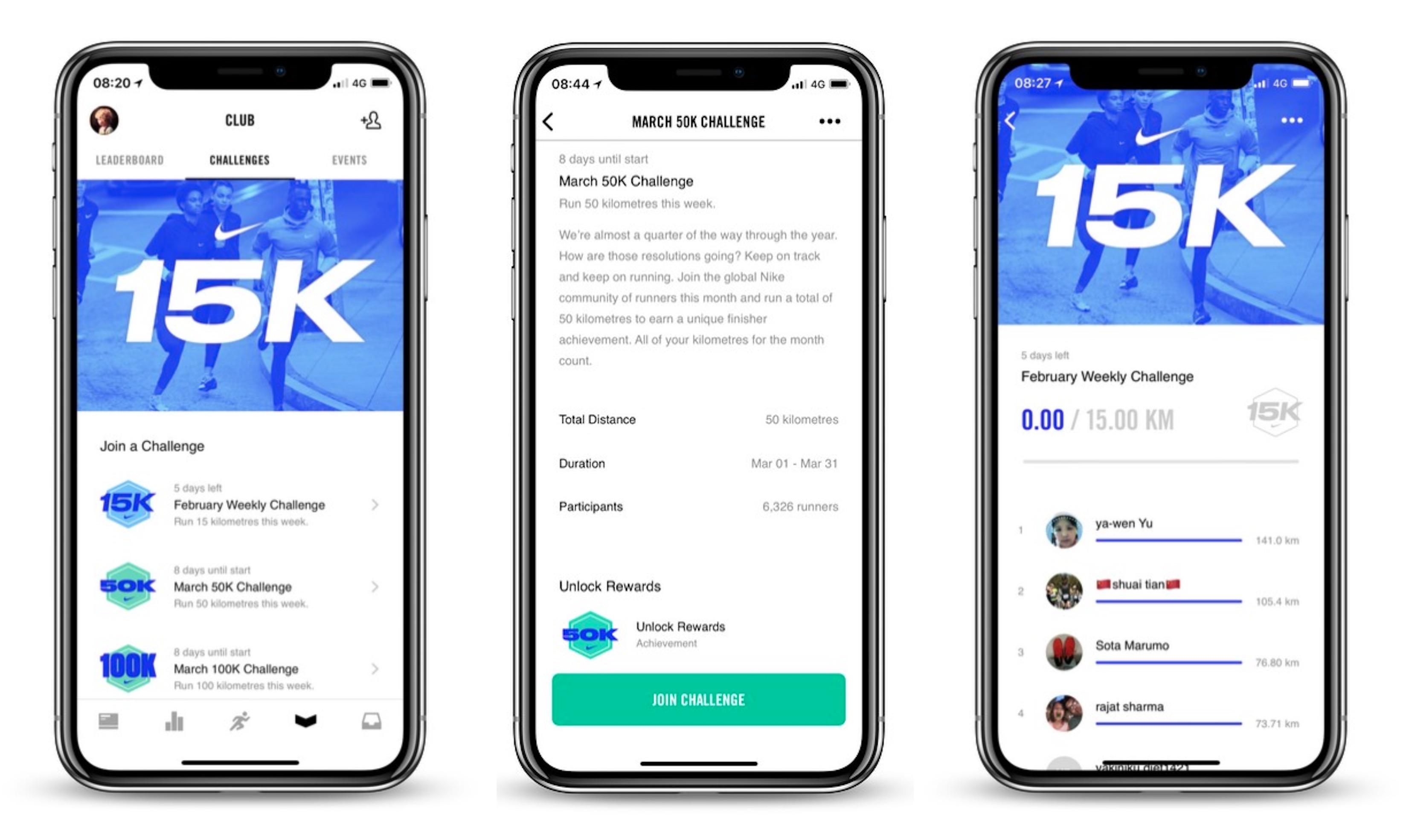 precio oficial auténtico auténtico elegir original Nike+ Run Club iOS App Updated With New Weekly Challenges Feature ...