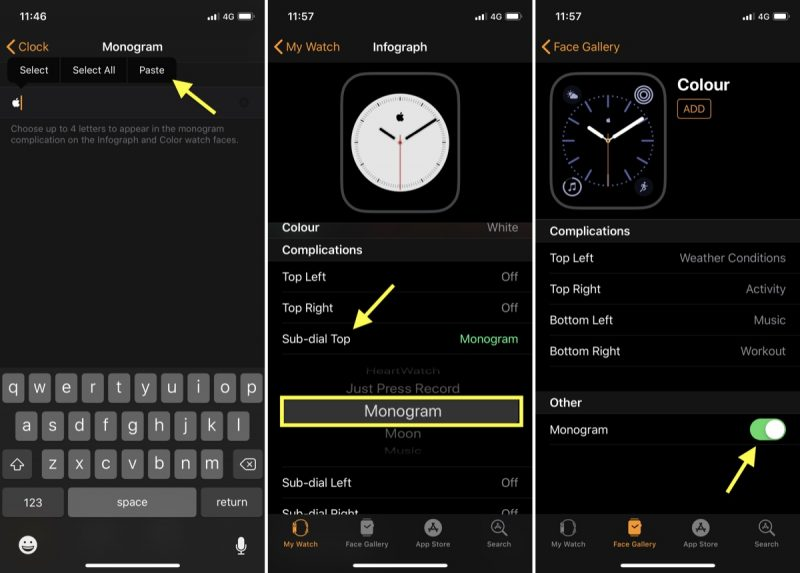 How To Customize The Monogram On Your Apple Watch Macrumors