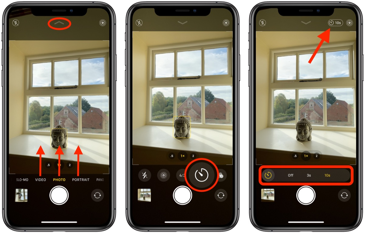 How To Access The Camera Timer On Iphone 11 And Iphone 11 Pro Macrumors