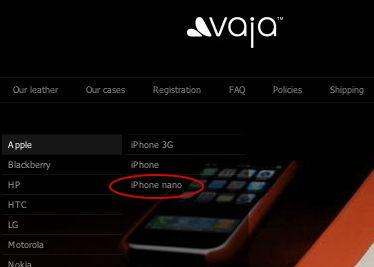 iPhone nano at Vaja