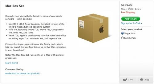 Mac OS X 10.6 Snow Leopard Box Set