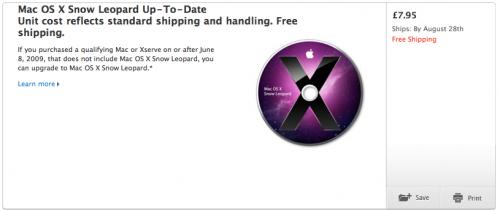 Mac OS X Snow Leopard UK Store
