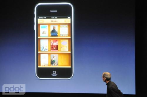 The iPhone version of iBooks will also offer access to the company's