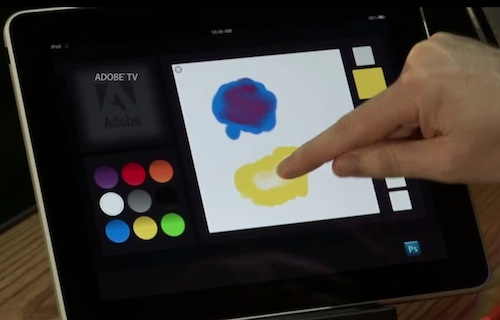 Demo of color-mixing palette tool on iPad