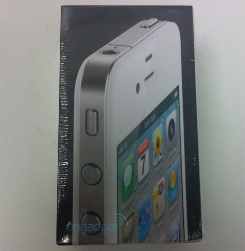 iphone 4 box. purchased a white iPhone 4