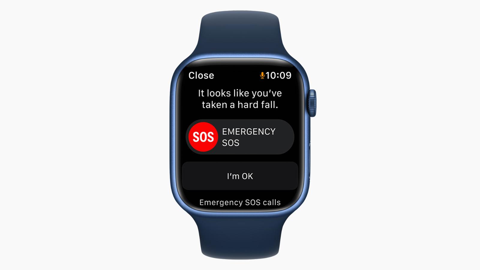 apple watch series 7 emergency sos