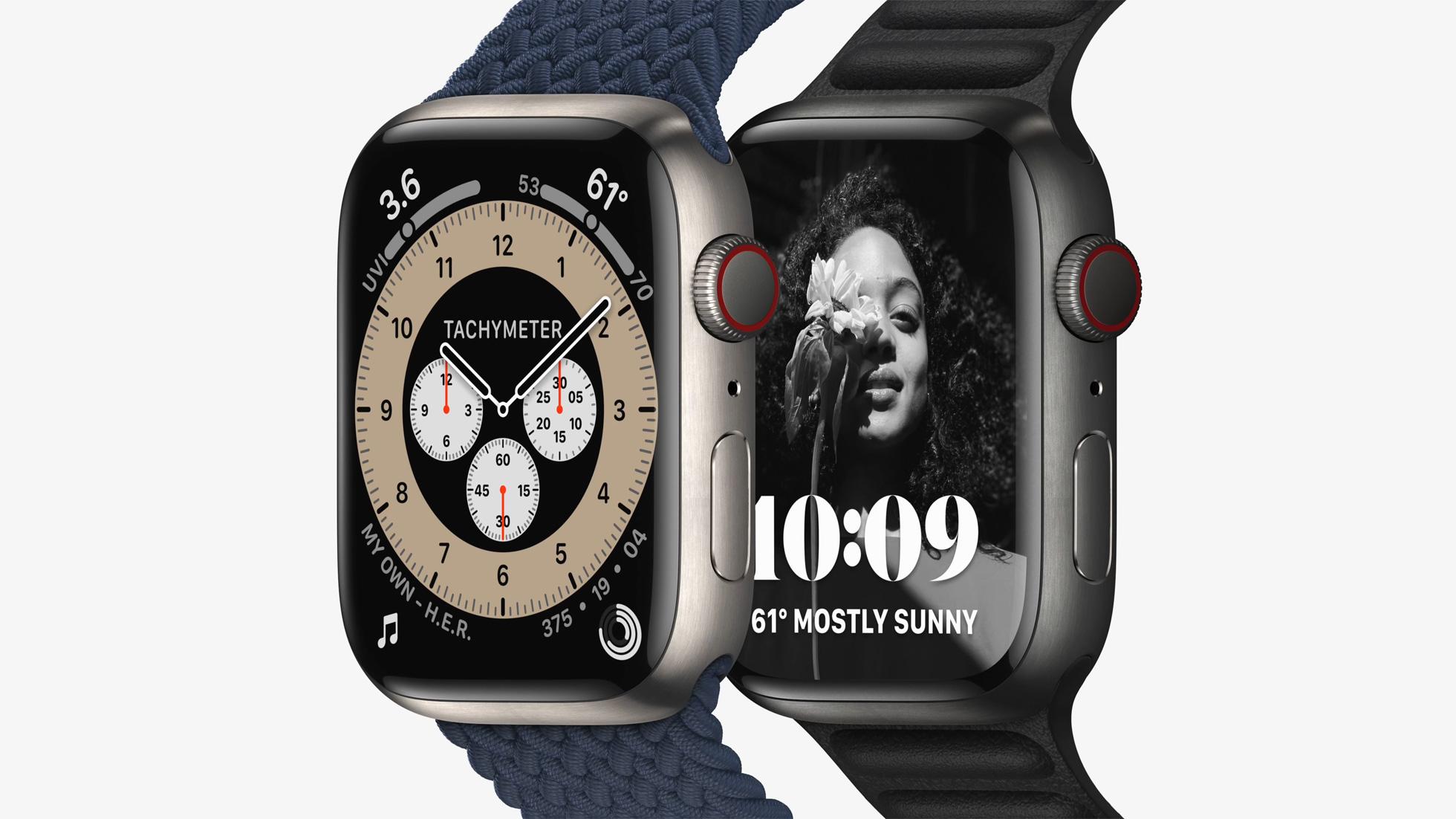 apple watch series 7 titanium