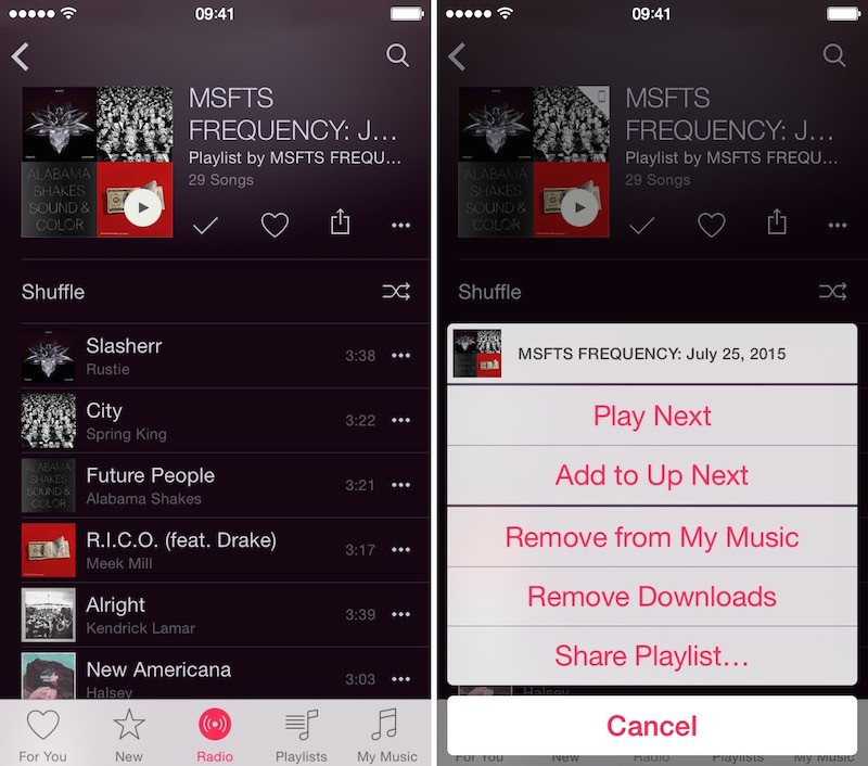 How to Add Beats 1 to Offline 5