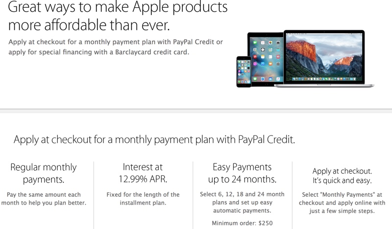 Stores That Accept Paypal Credit Online >> Apple Drops Support For Paypal Credit Payment Plans In U S