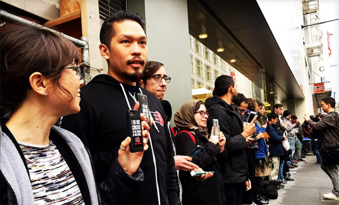 FFTF Privacy Protest Apple Store