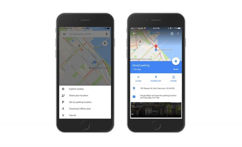Google Maps Now Remembers Where You Parked Your Car - MacRumors on google social media, google background, eclipse download, google facebook, google privacy, google annual report, google icon download, google articles, google services, linux download, google help, google desktop site, google chrome, google contact, google links, google apps button,