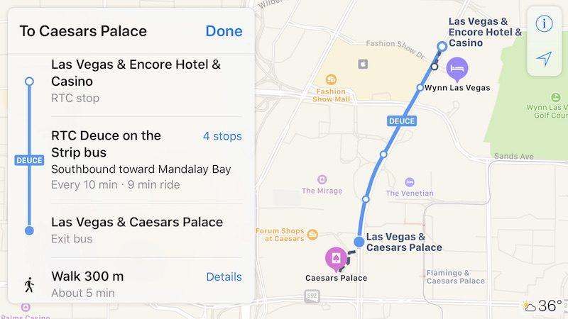 Apple Maps Transit Directions Now Available in Las Vegas and ... on las vegas deuce route, double-decker bus vegas map, vegas deuce route map, las vegas maps printable, las vegas deuce schedule, vegas strip map, las vegas bus,