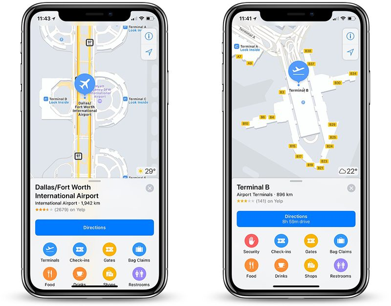 Apple Maps Now Features Indoor Maps of Boston Logan, DFW ... on