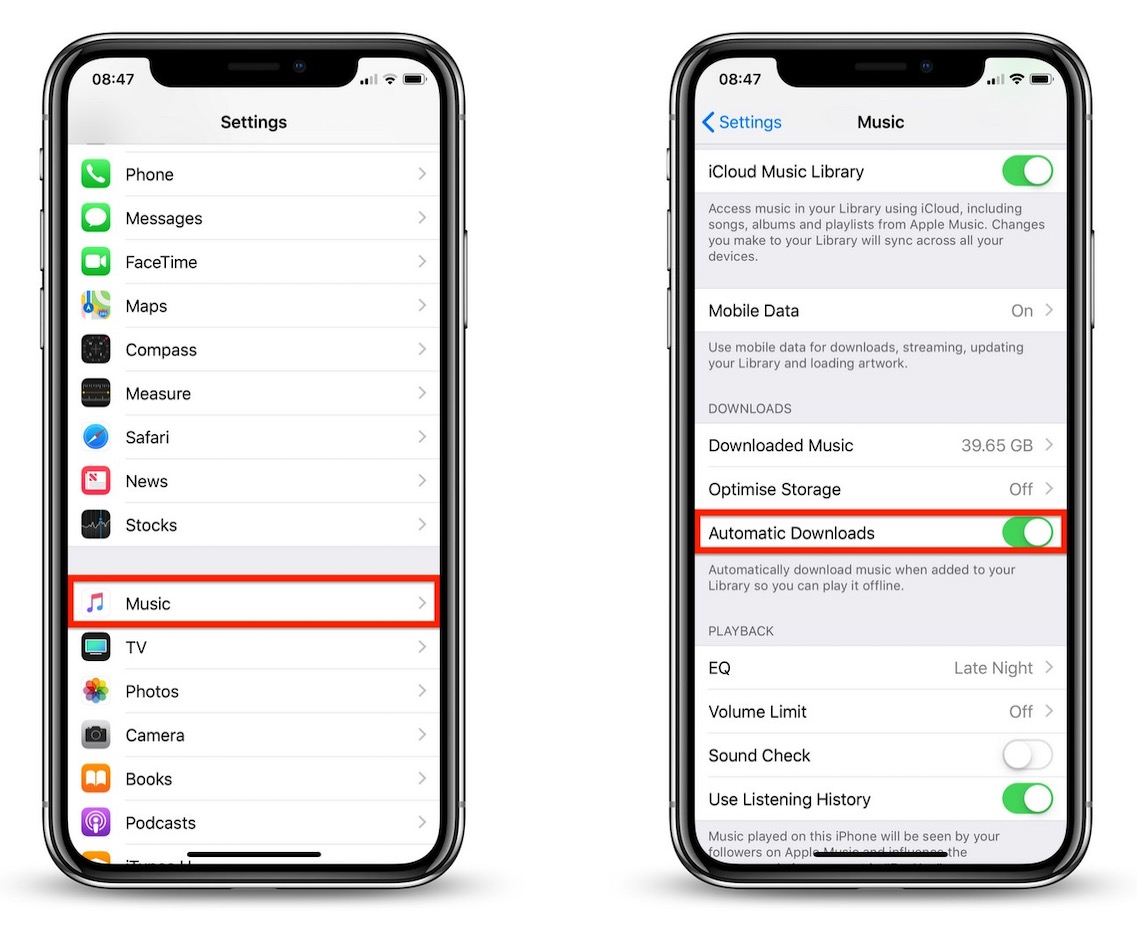 How to Turn on Automatic Downloads for Songs in Apple Music