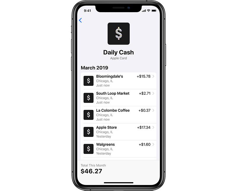 Apple Card daily cash