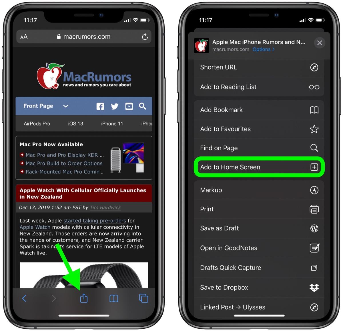 如何在 iPhone 的 Safari 浏览器中添加网站书签?