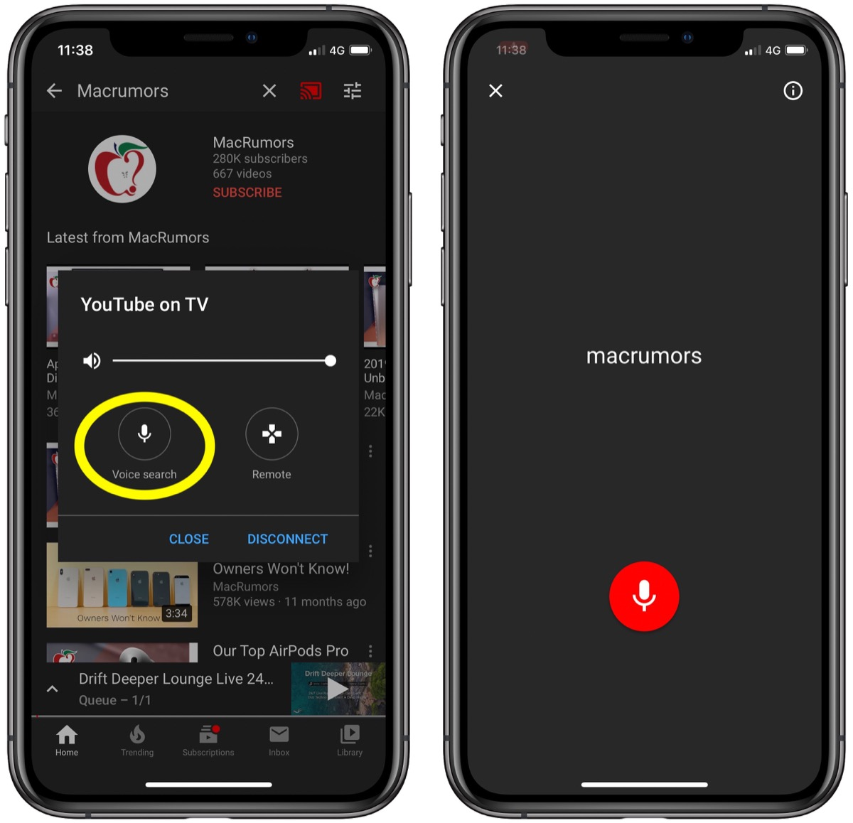 YouTube adds voice search to mobile app