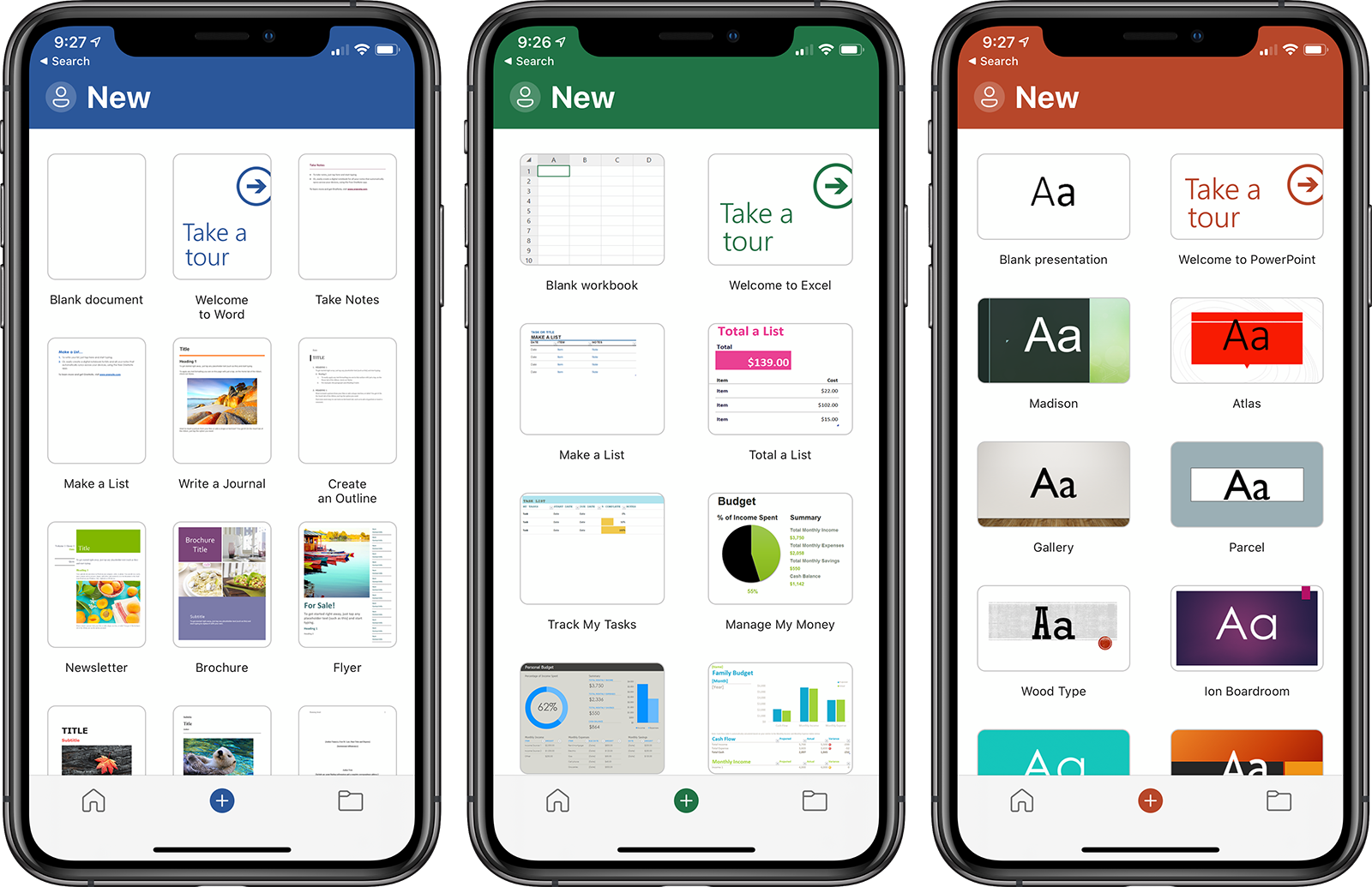 Microsoft Word, Excel, and PowerPoint Apps Redesigned With Simplified Three-Tab Layout on iPhone - MacRumors