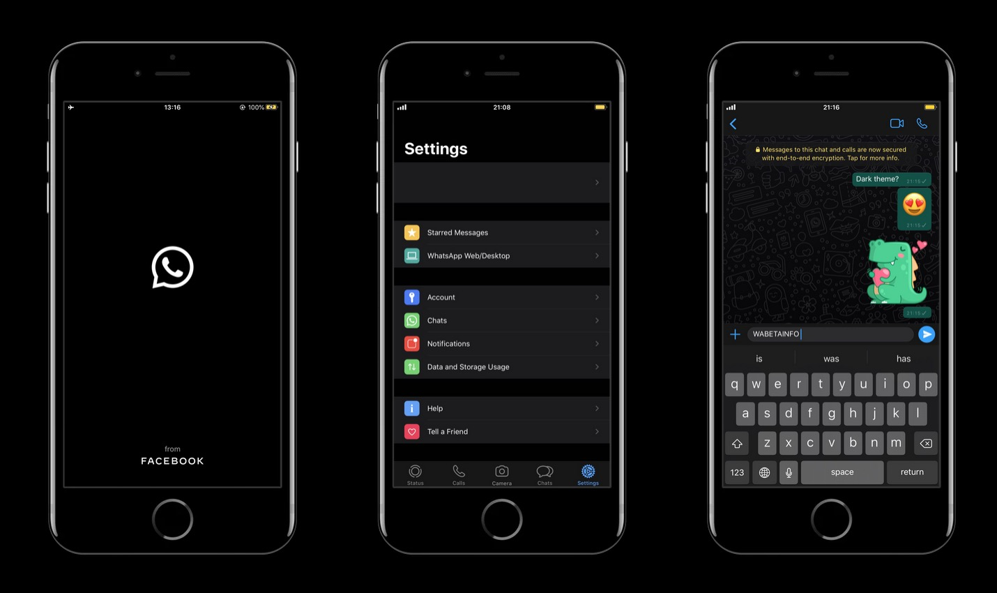 WhatsApp's Dark Mode for iPhone Inches Closer to Release, Requires iOS 13 - MacRumors