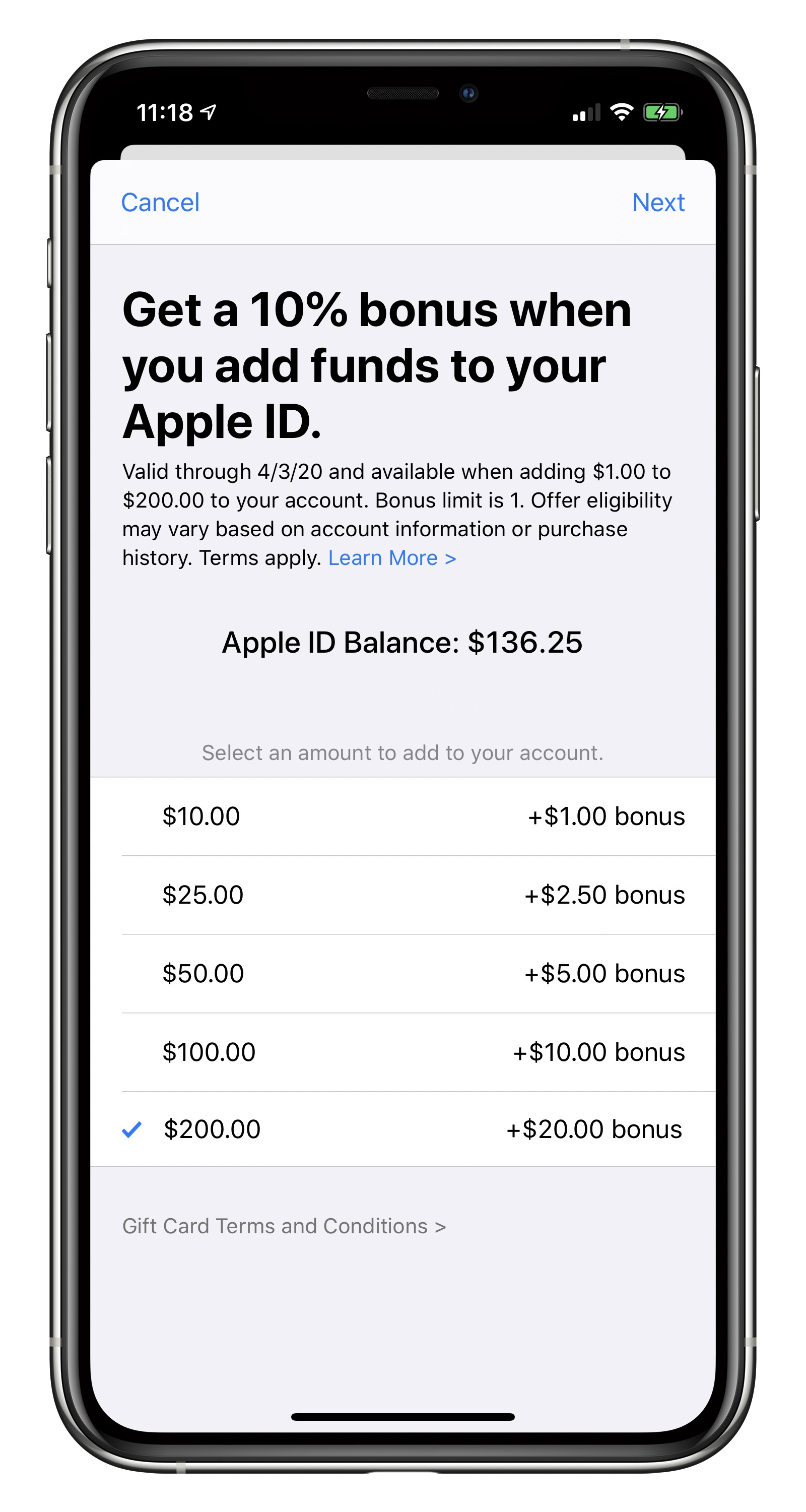 Apple Offering 10% Bonus When Adding Funds to Apple ID in Select Countries - MacRumors