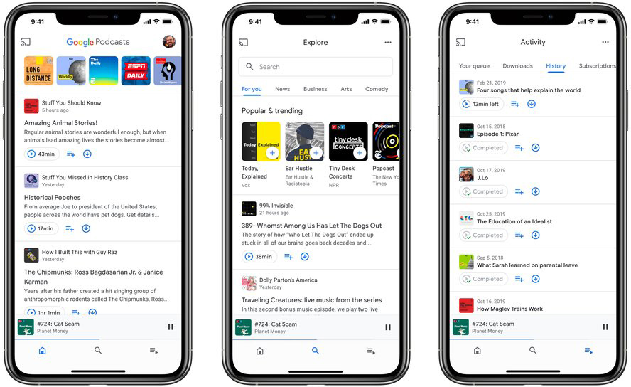 photo of Google Podcasts App Expands to iOS image