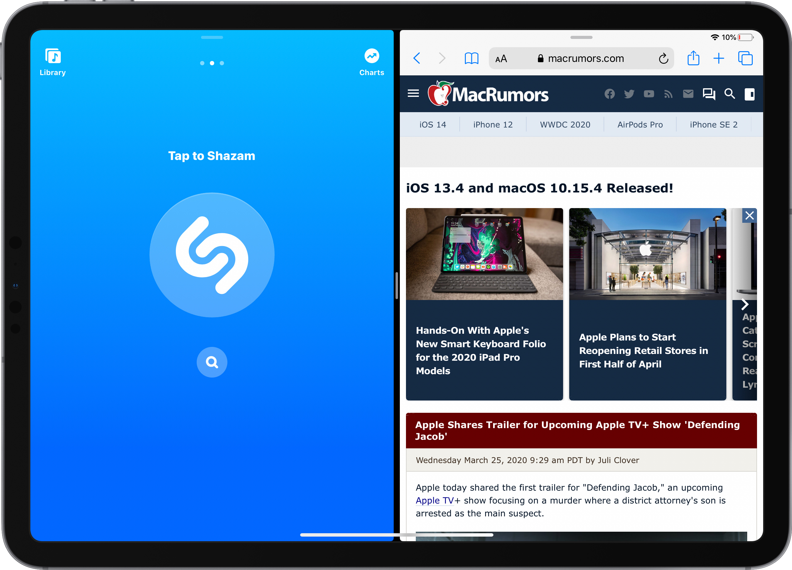 photo of Shazam Gains Support for Split View on iPad image