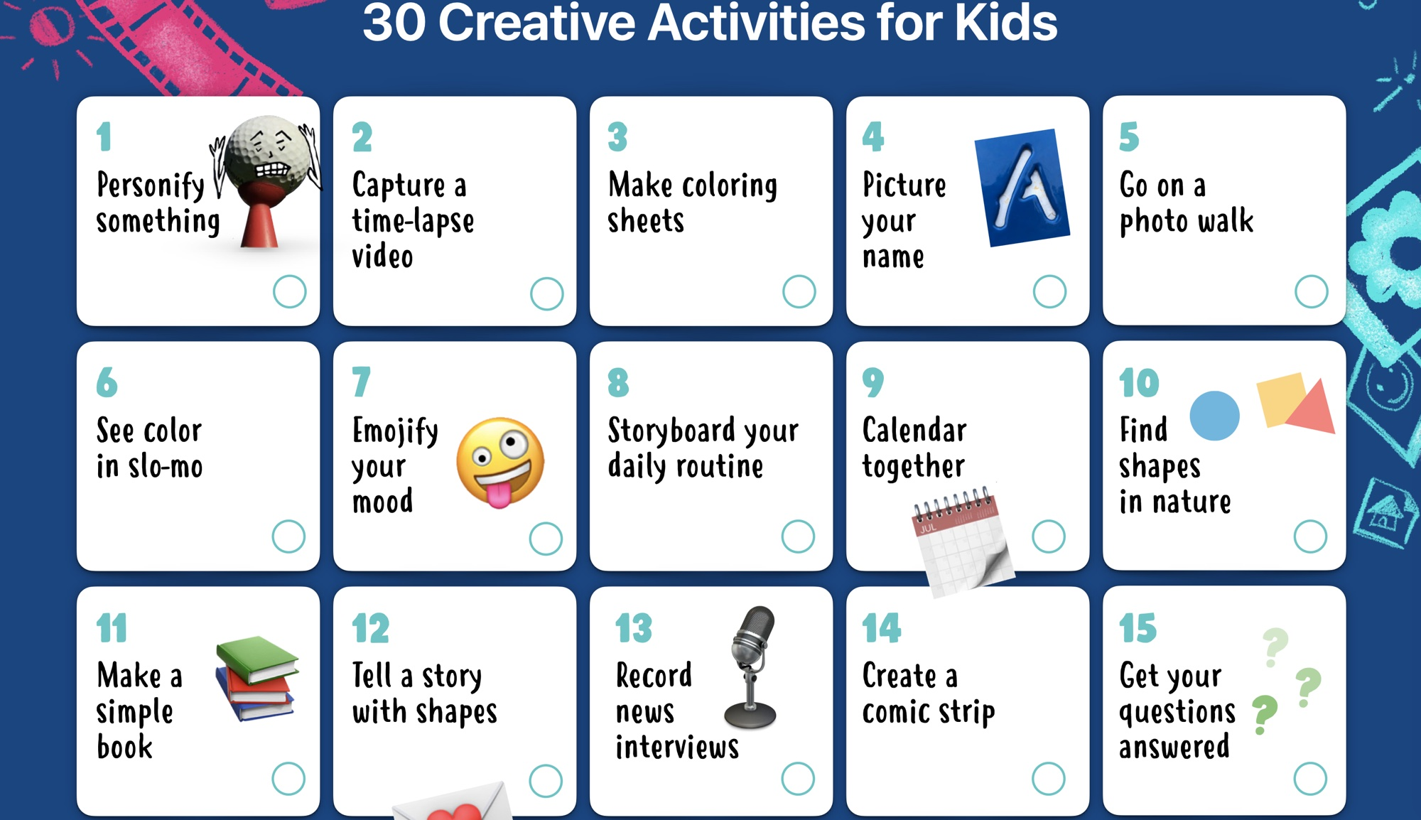 photo of Apple Shares Worksheet With 30 iPad Activities for Kids image