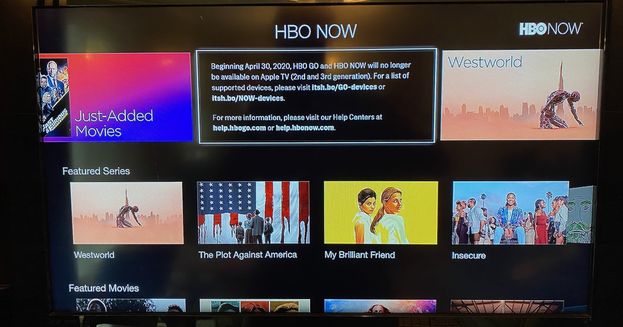 photo of HBO GO and HBO NOW Will No Longer Be Available on 2nd and 3rd Gen Apple TVs Starting April 30 image