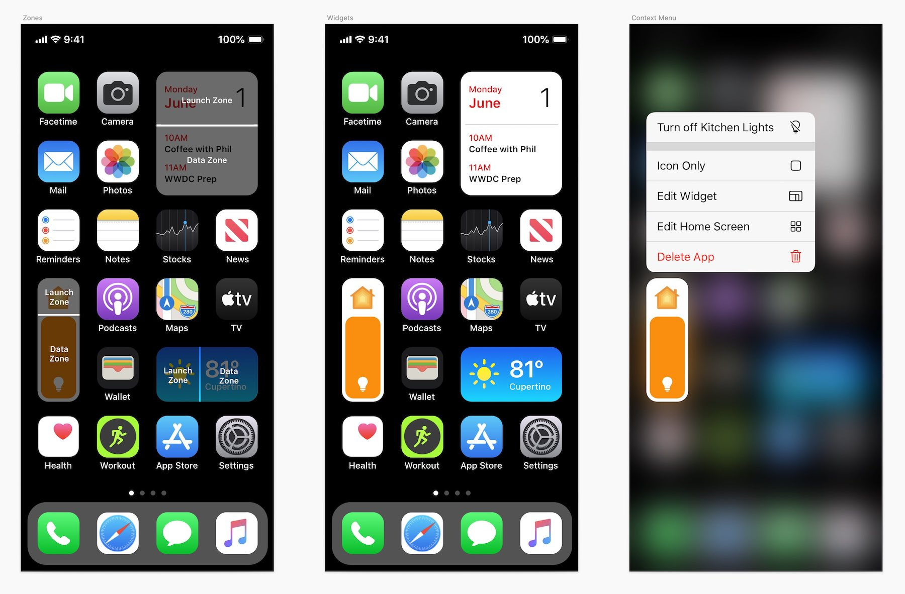 iOS 14 concept teases what a new call screen UI, Split ...  |Ios 14
