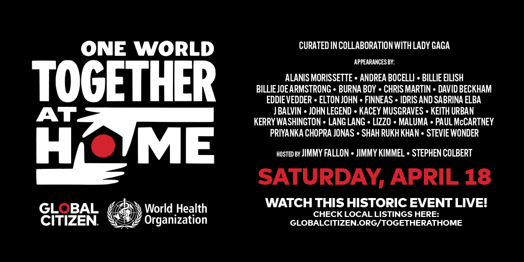 photo of Apple, Amazon, YouTube and Others to Live Stream 'One World: Together At Home' Virtual Concert image