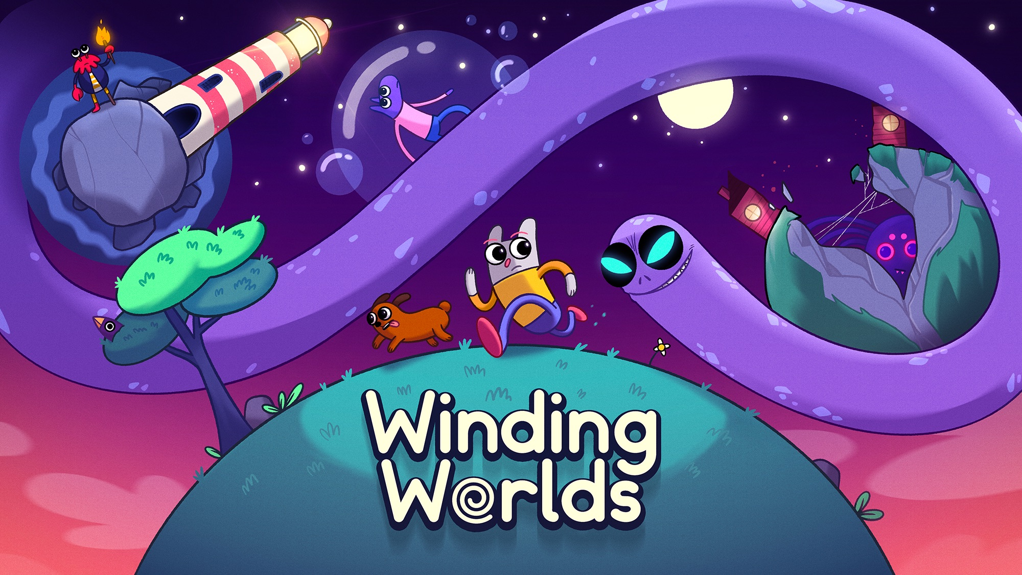 World-Wiggling Puzzle Journey 'Winding Worlds' Debuts on Apple Arcade