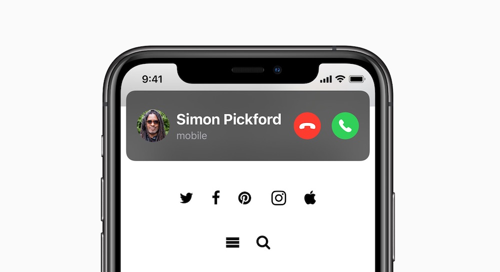 ios 14 incoming phone call