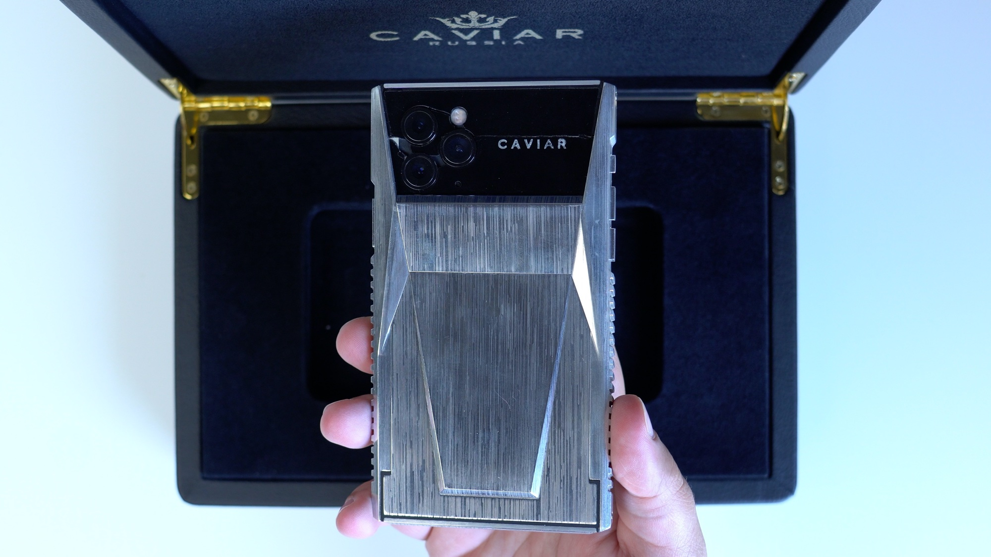 photo of Hands-On With Caviar's Modified 'CyberPhone' iPhone Designed to Look Like a Tesla Cybertruck image