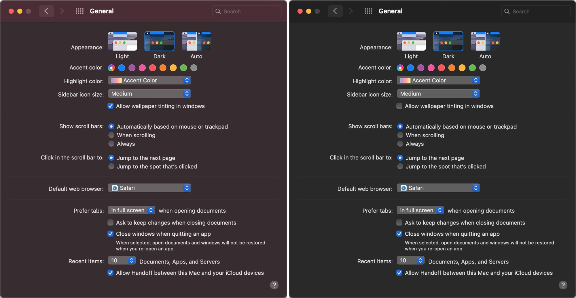Make Dark Mode Darker in macOS Big Sur With New Toggle to Disable Wallpaper Tint