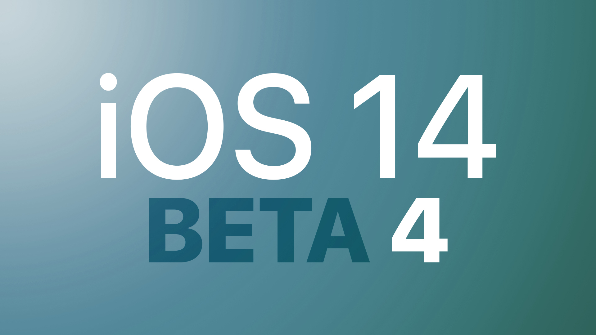 iOS 14 Developer Beta 4