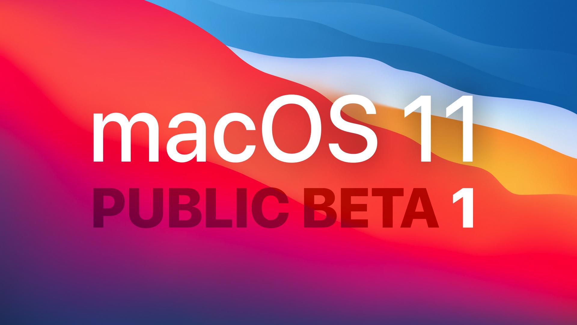 macOS Big Sur Beta 1