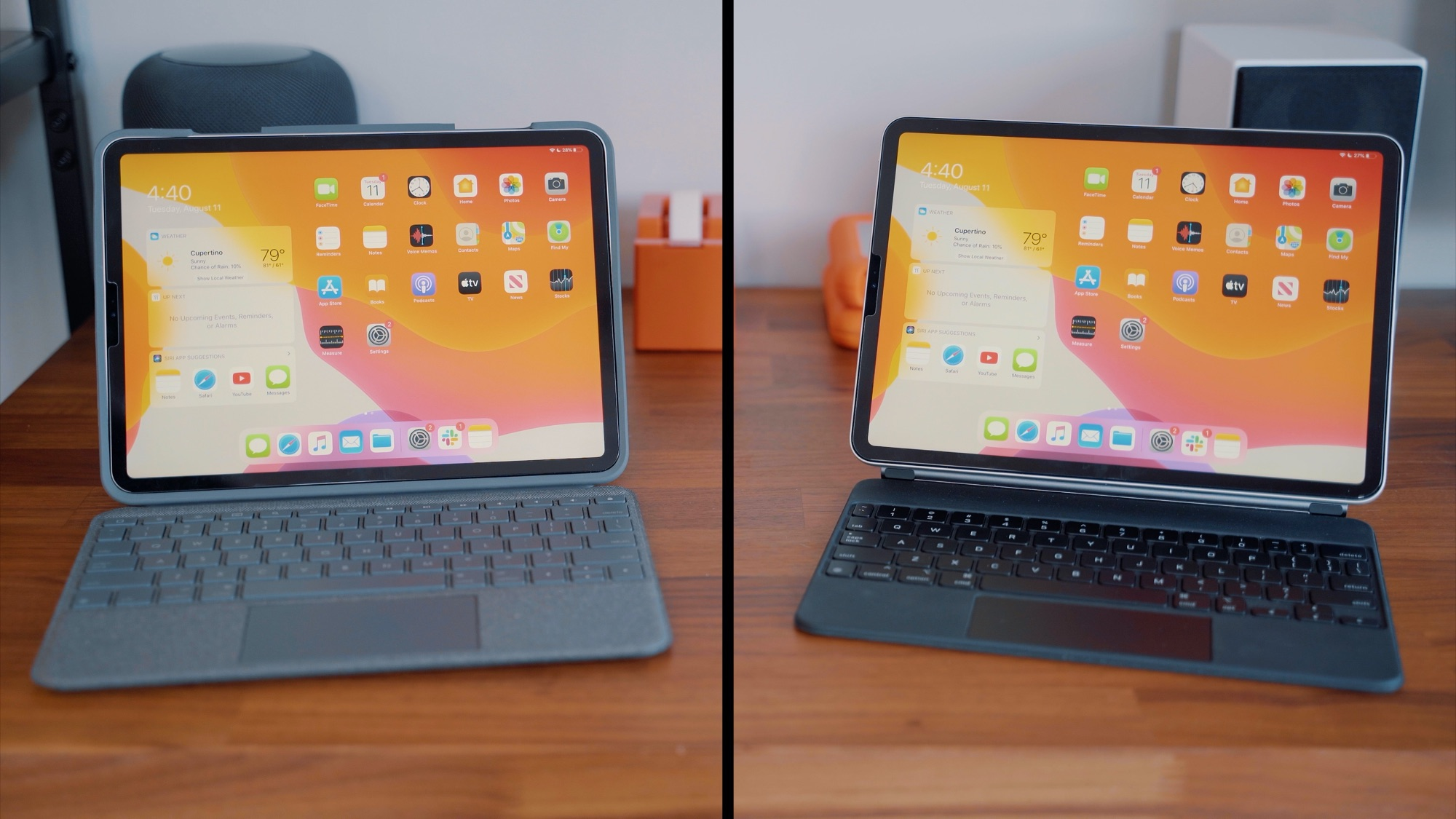 iPad Pro Keyboard Comparison: Logitech's $160 Folio Touch vs. Apple's $300 Magic Keyboard - MacRumors