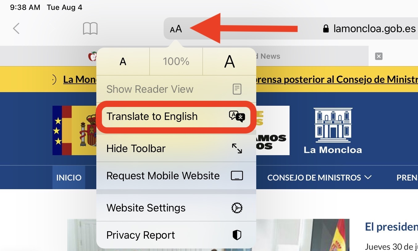 iOS 14: How to Translate Webpages in Safari on iPhone - MacRumors