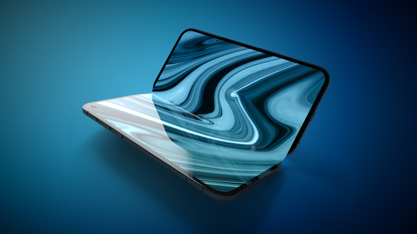Foldable iPhone 2023 Feature Blue