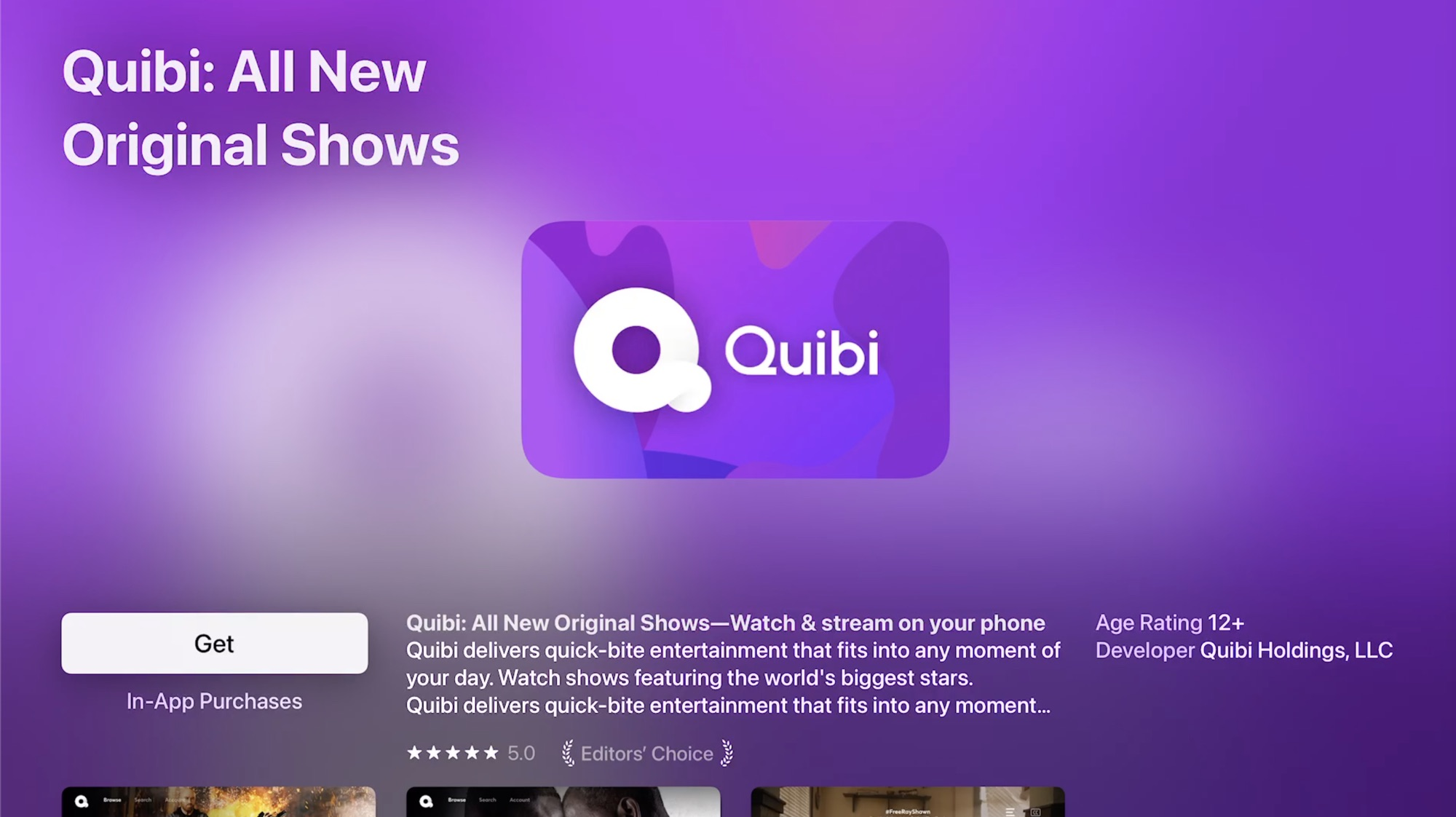 photo of Short Form Video Service Quibi Now Available on Apple TV image