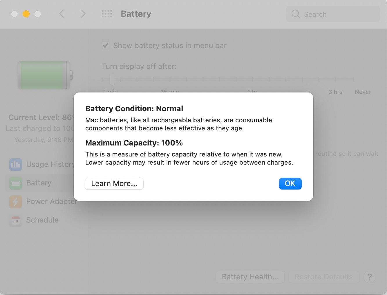 Apple's Battery Health