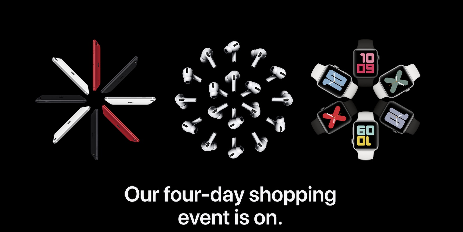 apple shopping event 2020 banner