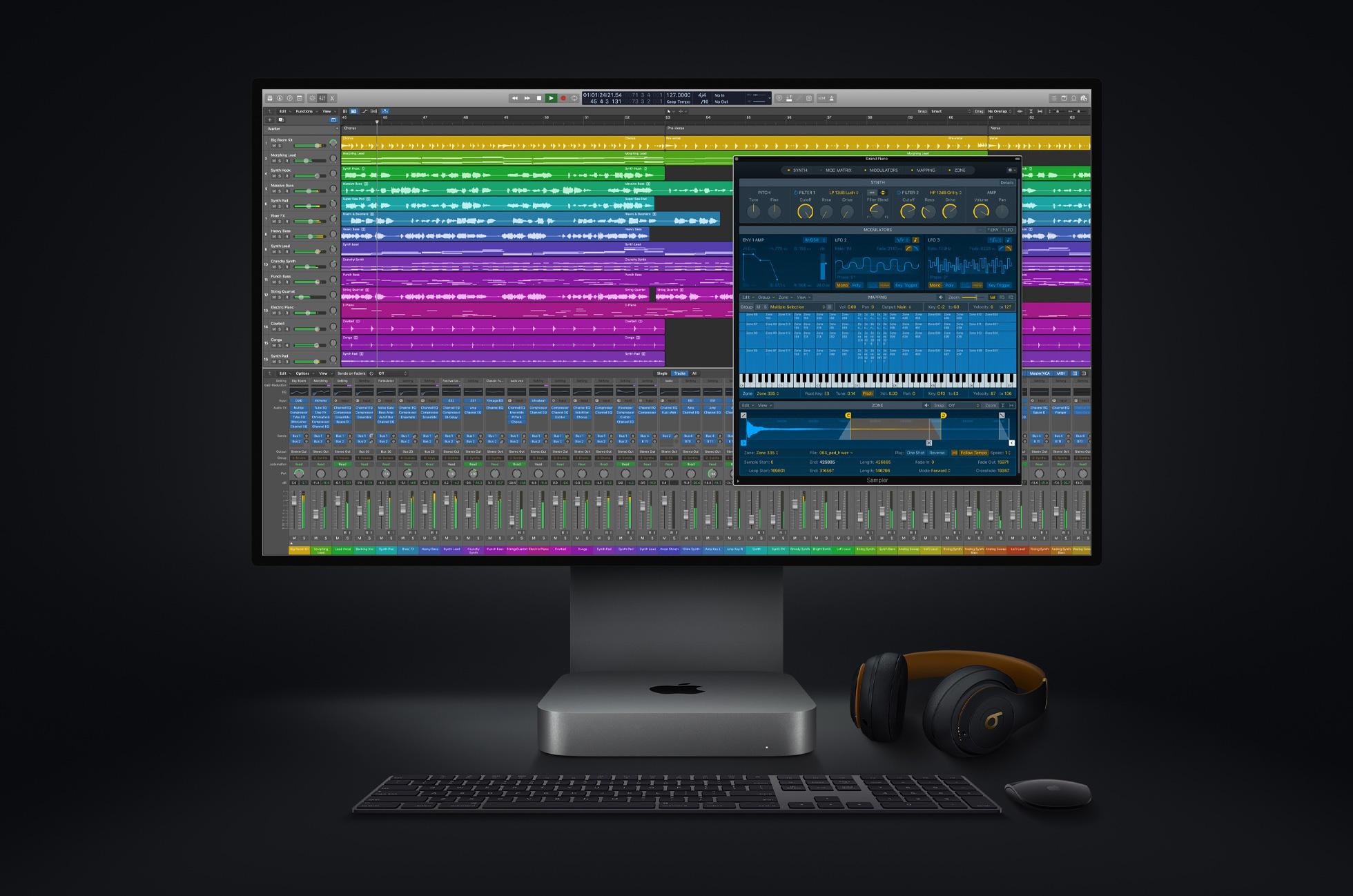 new mac mini logicpro screen