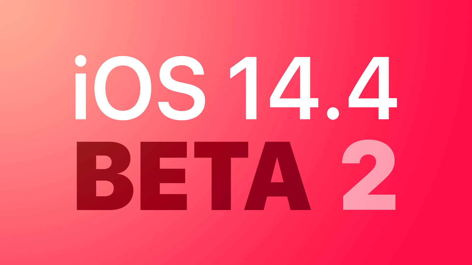 Apple Seeds Second Betas of iOS 14.4 and iPadOS 14.4 to Developers [Update: Public Beta Available]
