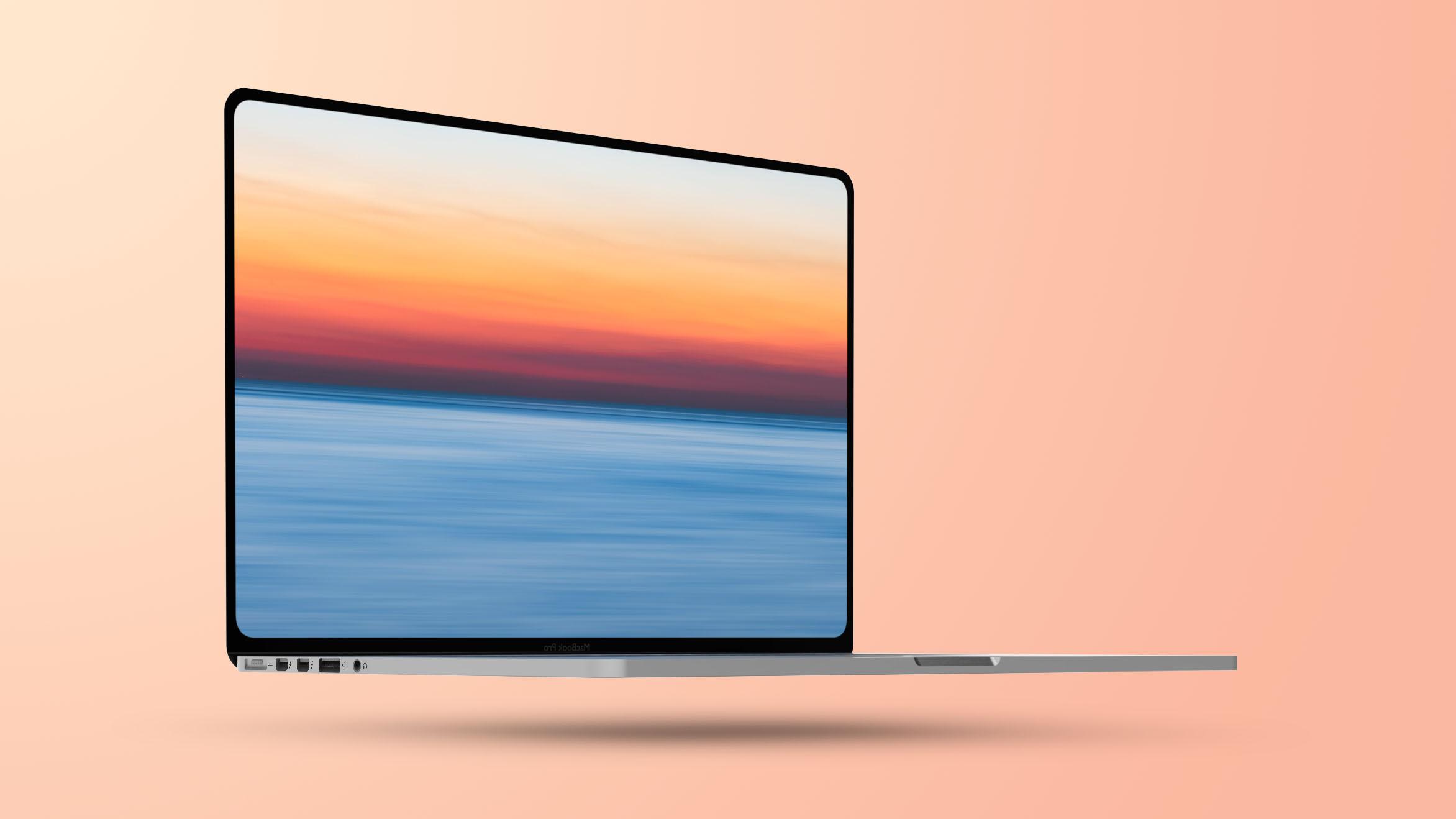 Flat 2021 MacBook Pro Mockup Feature