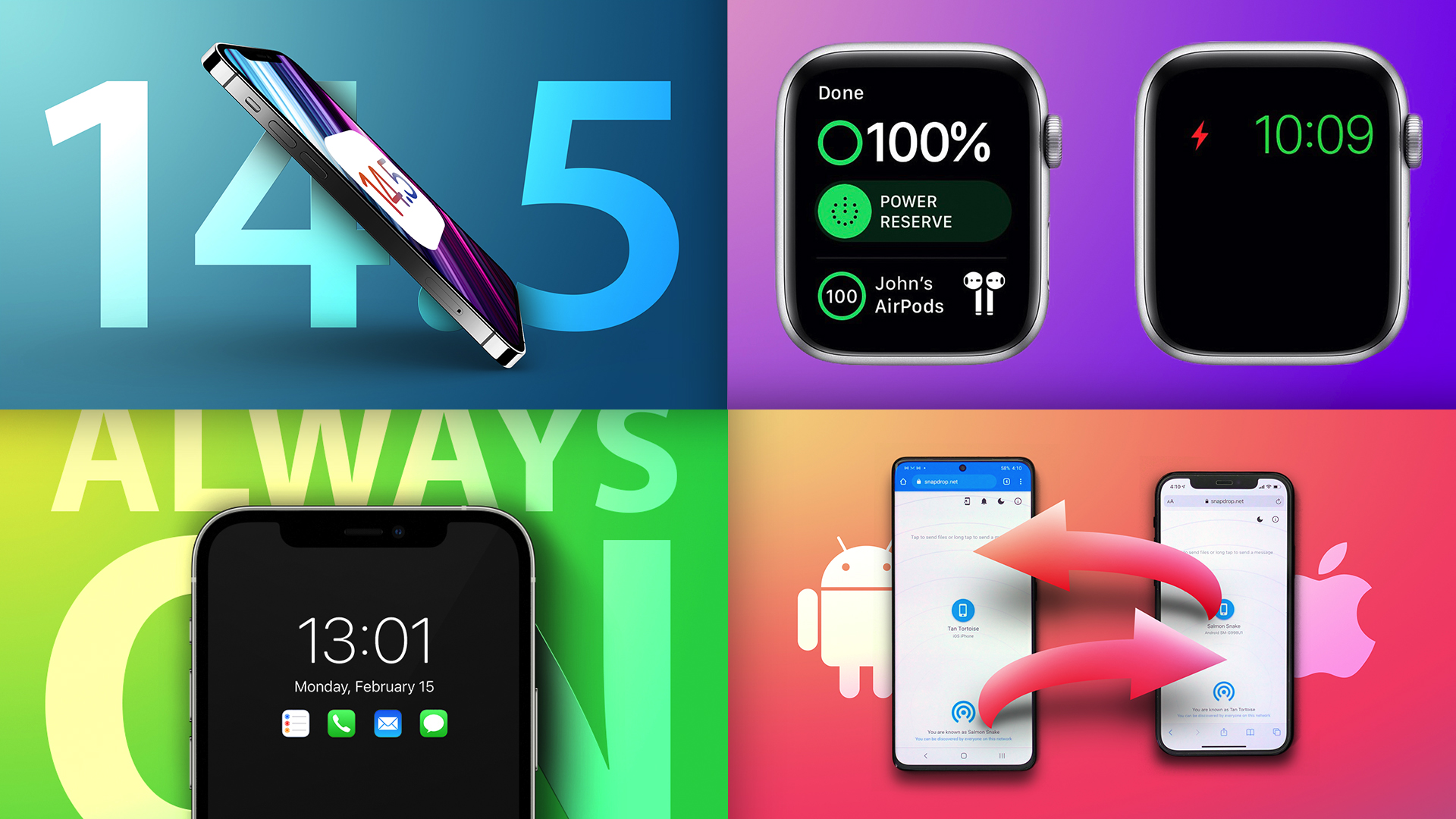 Top Stories: More iOS 14.5 Beta Changes, iPhone 13 Rumors, Apple Watch Charging Issue Fixed
