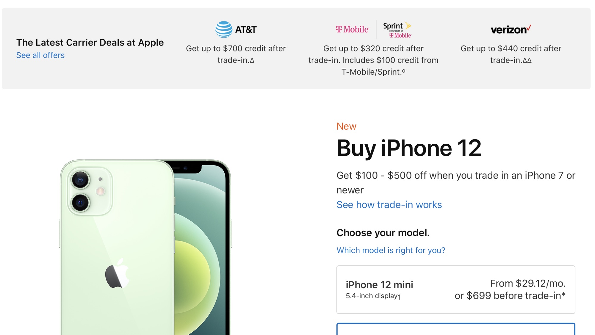 Apple More Prominently Highlighting iPhone Trade-In Deals From Carriers