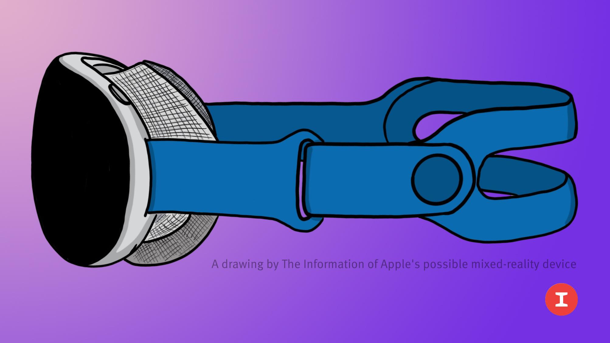apple mixed reality headset mockup feature purple